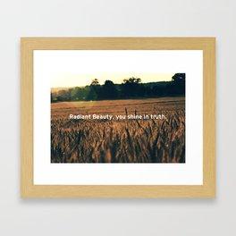 Radiant Beauty Framed Art Print