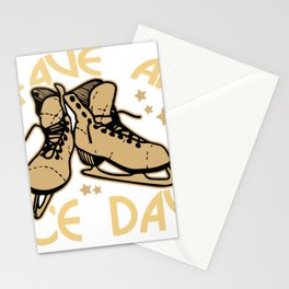 skating skating to skate gift skates ice Stationery Cards