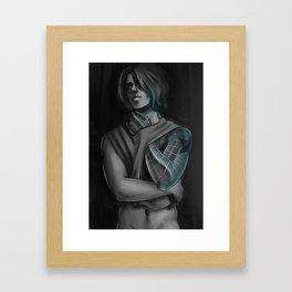 GREY BUCKY Framed Art Print