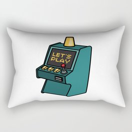 Retro arcade game machine. Lets play video games concept. Rectangular Pillow