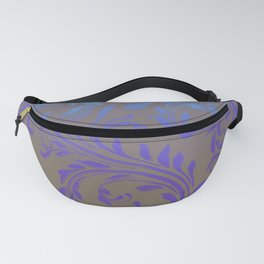 Ombre Damask Purple and Blue Fanny Pack