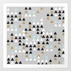 Scandinavian geometric pattern Art Print