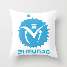 El Mundo Throw Pillow