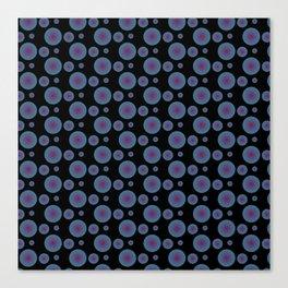 Bullseye in Blue II Canvas Print