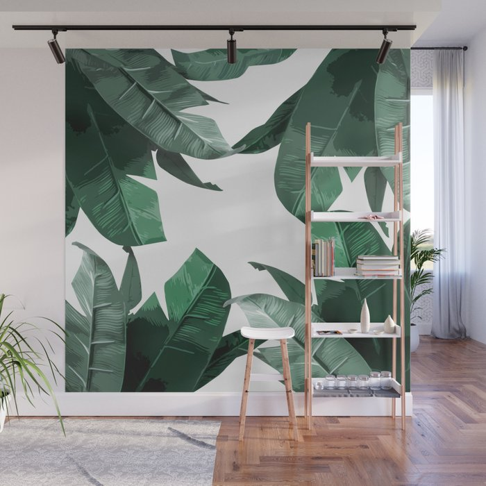 Banana Leaf Print Wall Mural by tamsinlucie Society6