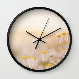 Spring Mornings White Daisies Wall Clock
