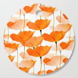 Orange Poppies On A White Background #decor #society6 #buyart Cutting Board