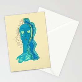 Mermaid resting Stationery Cards