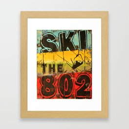 Ski the 802 Framed Art Print