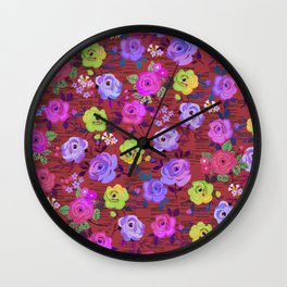 eclectic ros pattern Wall Clock