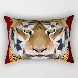 The King of Tigers Rectangular Pillow