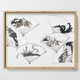Mutamagawa senmen harimaze Hokusai Katsushika Ukiyo-E Japanese Serving Tray