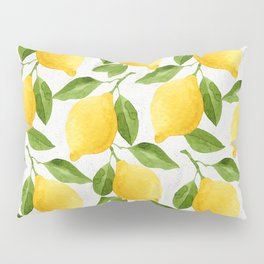 Watercolor Lemons Pillow Sham