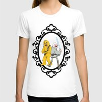 finn and jake T-shirts featuring Jedi Finn & Wookie Jake by createASAP