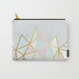 Gold & Pastel Geometric Pattern Carry-All Pouch