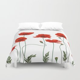 Poppy Stems Duvet Cover