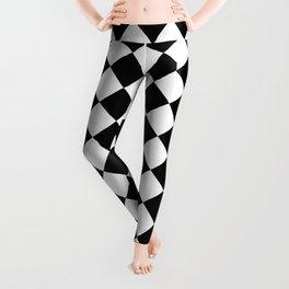 Diamonds - White and Black Leggings