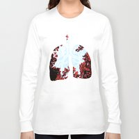lungs Long Sleeve T-shirts featuring Lungs by Keka Delso
