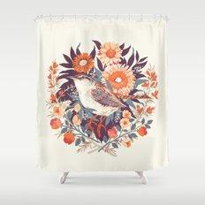 Wren Day Shower Curtain