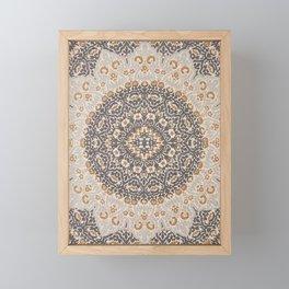 Bohemian Oriental Moroccan Mandala Style  Framed Mini Art Print