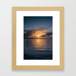 Sunset in Key Largo Framed Art Print