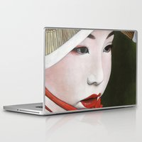 geisha Laptop & iPad Skins featuring Geisha by Andrea Maiorana