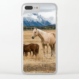 Mountain Horse - Western Style in the Grand Tetons Clear iPhone Case