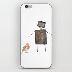 Robot and Bird iPhone Skin