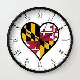 Love Maryland Wall Clock