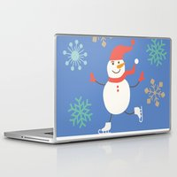 snowman Laptop & iPad Skins featuring Snowman by Mr and Mrs Quirynen