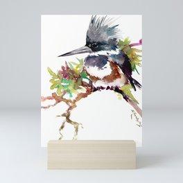 Belted Kingfisher Mini Art Print