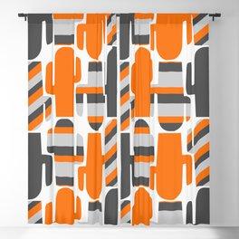 Modern striped cacti Blackout Curtain