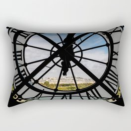 Giant glass clock at the Musée d'Orsay - Paris Rectangular Pillow