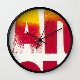 You are on Fire Wall Clock
