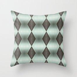 Mint Green, Cream & Chocolate Brown No. 5 Throw Pillow