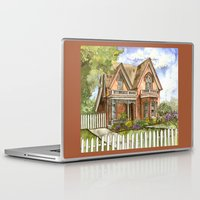 victorian Laptop & iPad Skins featuring Victorian Beauty by Shelley Ylst Art