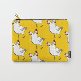 Two Headed Chicken Repeat Pattern Carry-All Pouch