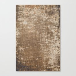 Cement Weathered Brown Abstract Photograph Canvas Print