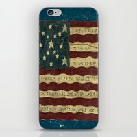 american flag iPhone & iPod Skins featuring American Flag by Argi Univrs