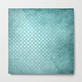 Beautiful textured limpet blue polka dot design Metal Print