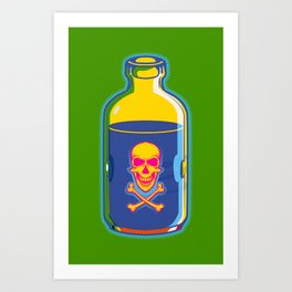 psychedelic poison bottle Art Print