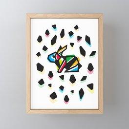 Rainbow Anigami Bunny Framed Mini Art Print