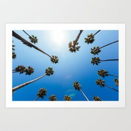 Palm Trees in Los Angeles Art Print