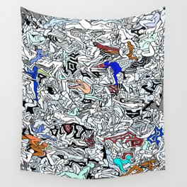 Retro Kamasutra LOVE Doodle  Wall Tapestry