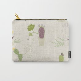 My Potted Cactus Pattern Carry-All Pouch