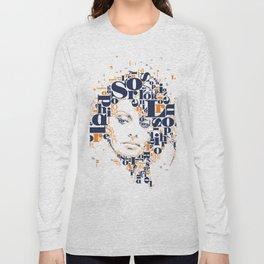 Sophia Loren Typographic Image Long Sleeve T-shirt