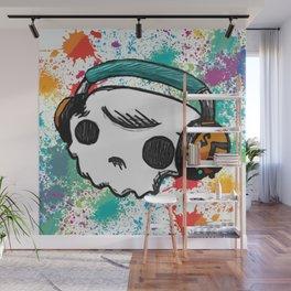 Skull headphones Pure Candy Wall Mural