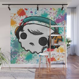 Skull headphones Pure Candy Wall Mural