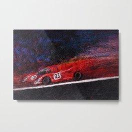 P917 Racing in the Rain Metal Print