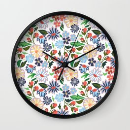 Springtime Floral Wall Clock